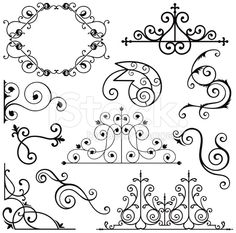 Wrought Iron Ornament  vector art
