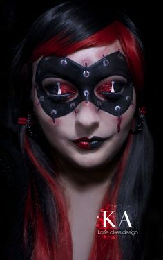 Harley Quinn Makeup with Tutorial by KatieAlves on deviantART #Halloween #Makeup