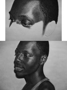 Kelvin Okafor, art, illustration, pencil drawing, portraits