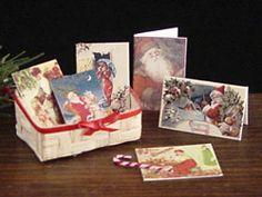 Basket of Christmas Cards