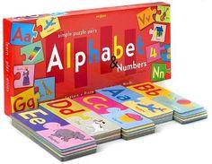 eeBoo Alphabet & Numbers Jumbo Puzzle Pairs