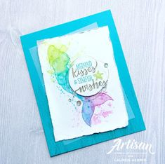 Crafty Little Peach: Stampin' Up! Watercolor Mermaid Silhouette Instagram Tip