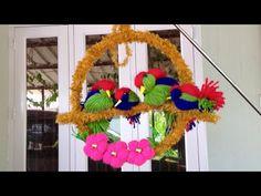 DIY Bird wall decor/best reuse idea/ lovebird making/Best out of waste Art N Craft, Craft Work, Diy Arts And Crafts, Easy Crafts, Bird Crafts, Paper Crafts, Quilt Size Charts, Diy Wall Art, Wall Decor