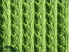 The ears of corn stitch is a six row repeat and is knitted in a multiple of six stitches.