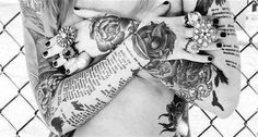 Black and white tattoo picture