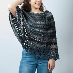 Handmade gifts for women crocheted poncho, Alpaca wool crochet poncho for women, Spring clothing accessories for everyday teenager outfit Winter Outfits, Spring Outfits, Casual Outfits, Capes For Women, Clothes For Women, Poncho Outfit, Grey Poncho, Fashion 2020, Fashion Trends