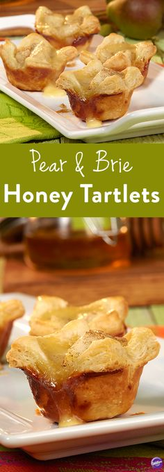 Pear and Brie Honey Tartlets Recipe - Pear and Brie, Brie and pear; working in sweet, savory harmony. The creaminess of these luscious tartlets will have you dreaming of afternoons spent on the French Riveria...