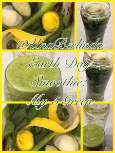 Smoothie!  My 5 Green Beets leaves, peeled lemon, broccoli, celery, cucumber, add iced green tea, teaspoon of brown sugar... For best drinking experience, use a straw, it goes down faster! Happy Earth day, get your green on!
