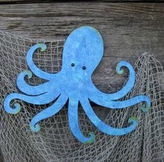 Octopus Metal Wall Sculpture