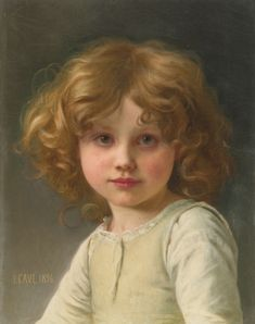 jules-cyrille paintings | Art Renewal Center :: Jules-Cyrille Cave :: Young Girl with Curly Hair