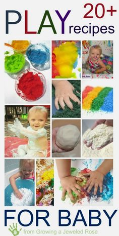 An amazing collection of play recipes perfect for babies {Safe for baby; fun for kids of all ages!}  - from Growing a Jeweled Rose