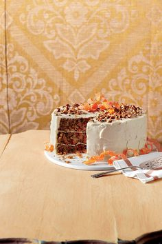The Ultimate Carrot Cake - Fall Cake Recipes - Southernliving. Recipe: The Ultimate Carrot Cake These layers are tender, so remove from pans carefully! Fall Cake Recipes, Best Thanksgiving Recipes, Dessert Recipes, Thanksgiving Cakes, Holiday Recipes, Baking Recipes, Ultimate Carrot Cake Recipe, Candied Carrots, Roasted Carrots