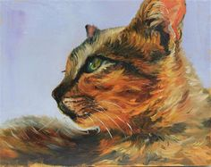 """Daily Paintworks - """"Feline"""" by Marco Vazquez"""