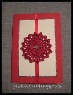 gordelicious creative crafts: crochet  crochet for cards