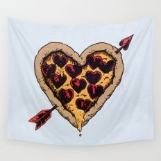 Pizza Love Wall Tapestry