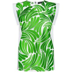 Markus Lupfer - Embroidered Swirl Lynna Top (€275) ❤ liked on Polyvore featuring tops, sheer embroidered top, green top, markus lupfer, green sheer top and embroidery top