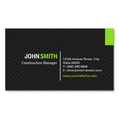 Construction Manager - Modern Twill Grid Double-Sided Standard Business Cards (Pack Of This great business card design is available for customization. All text style, colors, sizes can be modified to fit your needs. Just click the image to learn more! Teacher Business Cards, Real Estate Business Cards, Modern Business Cards, Custom Business Cards, Business Card Design, Creative Business, Construction Business Cards, Construction Manager, Bussiness Card