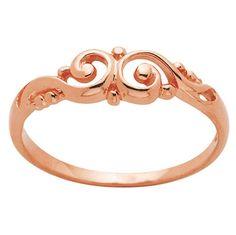 Swirl Rose Gold Ring