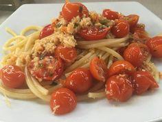 Linguine con polpa di granchio e pomodorini #linguinepolpadigranchio #polpadigranchio