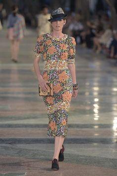 Chanel Resort 2017 Floral Dress as seen on Kirsten Dunst