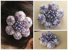 Handmade felt ball hair accessory by allanamphotography on Etsy, £11.00