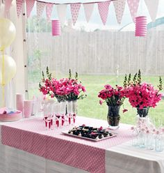 Roze communie thema lentefeest pink party inspiration