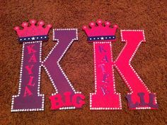 Letters for big and lil