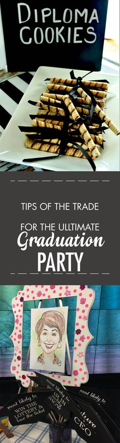 Simple ideas for making your graduation celebration simple: diploma cookies and a portable photo booth
