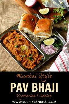 Mop up some delicious potato & mixed vegetable mash with some aromatic, buttery toasted pav bread for an amazing meal experience. The pav-bhaji, a quintessentially Mumbai street food can now be recreated in your kitchen! Indian Recipes | Indian Street Food | Mumbai Style | Pav Bhaji #pavbhaji #indianrecipes #vegetarian #mumbai