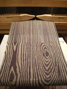 WeavingBackToTheFuture | double weave pick up | 2012. OMG I love woodgrain. I think I need to do an entire woodgrain board now.