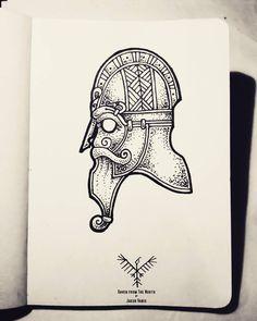 Rune Tattoo, Norse Tattoo, Celtic Tattoos, Viking Tattoos, Knot Tattoo, Viking Symbols, Viking Art, Feminine Skull Tattoos, Viking Knotwork