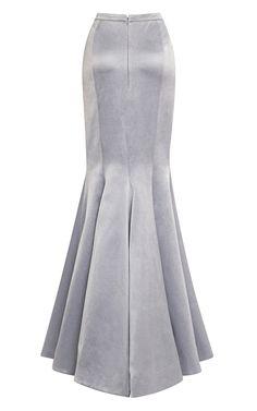 Fishtail Evening Skirt by Katie Ermilio for Preorder on Moda Operandi