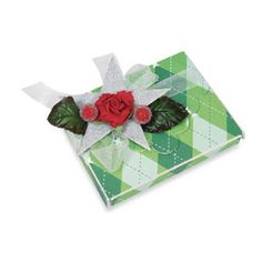 Green Argyle Wrapped #Package #gift #holiday