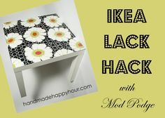 DIY Video: Ikea Lack Table Hack with Mod Podge.have two of these from ikea I want to mod podge the tops of! Lack Table Hack, Ikea Lack Hack, Ikea Lack Table, Easy Diy Crafts, Diy Crafts Videos, Diy Videos, Diy Crafts For Kids, Crafty Craft, Crafty Projects