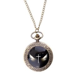 Angel Wings Cross Pendant Necklace With Chain Angel Wing Necklace, Quartz Pocket Watch, Necklace Types, Angel Wings, Necklace Designs, Cross Pendant, Types Of Metal, Fashion Brand, Necklaces