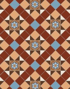 Tile and Stone Online are proud to offer Original Style Victorian Floor tiles at the best Online prices. Call 01539 741155 to discuss your requirements! Victorian Tiles, Small Tiles, Stencil Designs, Tile Patterns, Tile Floor, Design Inspiration, Ceramics, Flooring, Stone