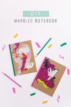 DIY: MARBLED NOTEBOOK – Tell Love and Chocolate
