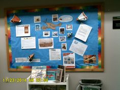 Our main bulletin board is changed monthly by staff in our CMC Department