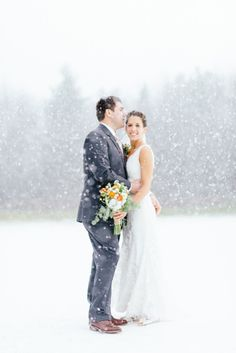 Get close: http://www.stylemepretty.com/2014/01/28/ways-to-warm-up-your-winter-wedding/