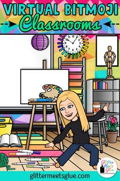 Have you bit the virtual Bitmoji classroom craze? Pop on over to learn some tips & tricks on how to get started & find inspiration on making your own, too! Online Classroom, Art Classroom, School Classroom, Classroom Ideas, Flipped Classroom, Google Classroom, Classe D'art, People Reading, Classroom Background