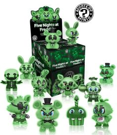 Five Nights at Freddy's Glow Mystery Minis is the perfect little gift for fans of the hit game franchise Five Nights at Freddy's. These cute and creepy glow in the dark figures take the tonal dissonance of Five Nights at Freddy's to a whole new level! Freddy Toys, Army Men Toys, Funko Mystery Minis, Mini Blinds, Anime Fnaf, Five Nights At Freddy's, Vinyl Figures, Action Figures, Cool Toys