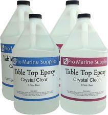 Crystal Clear Bar Table Top Epoxy Resin Coating For Wood Tabletop - 4 Gallon Kit - Stuff to buy - Epoxy Resin Table, Clear Epoxy Resin, Diy Epoxy, Wood Resin, Epoxy Resin Countertop, Wooden Table Top, Resin Furniture, Resin Coating, Diy Countertops