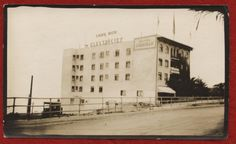 """Hotel Cabrillo La Jolla, Irving Gill, architect """"Light with Electricity,"""" c1915 (?)  