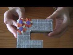 Cómo hacer letras decorativas con cartón en Elmimimundo - YouTube