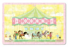 Spend your day at the fair as you put together this charming carousel puzzle. Each x puzzle comes personalized with your child's name. These beautifully illustrated, high quality puzzles are a great way to develop cognitive skills, problem solving Personalised Placemats, Personalized Books For Kids, Personalized Puzzles, For Elise, Carousel Designs, Puzzles For Kids, Book Gifts, Kid Names, Fine Motor Skills