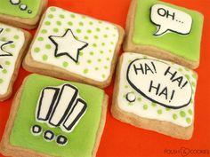 Comics Cookies from http://polishcookies.blogspot.com