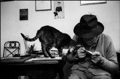 La lecture du chat,(c) Martine Franck/Magnum Photo