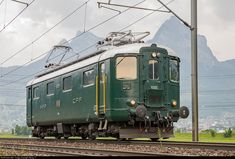 10001 SBB Historic Re I at Brunnen, Switzerland by Georg Trüb Swiss Railways, Rail Car, Electric Train, Electric Locomotive, Trains, Busses, Train Tracks, Switzerland, Transportation