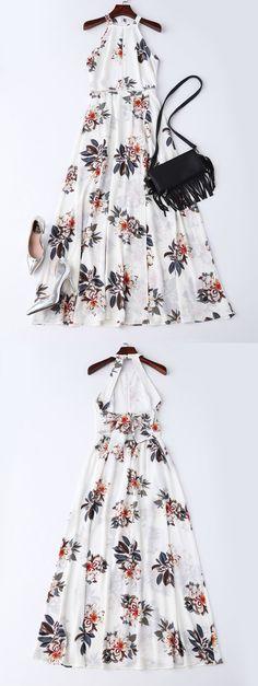 white floral dresses, floral maxi dresses, maxi dresses, floral dresses, backless floral dresses