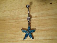 Belly button ring  Turquoise Starfish Belly Ring by ChelseaJewels, $10.00